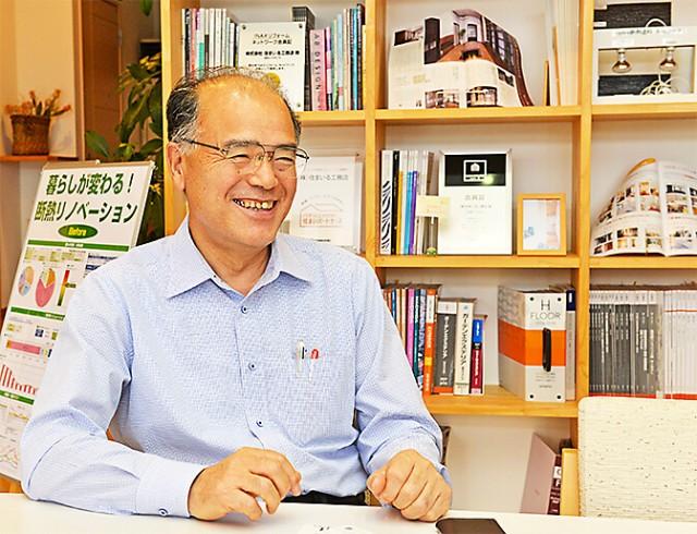 代表取締役の知久洋紀氏