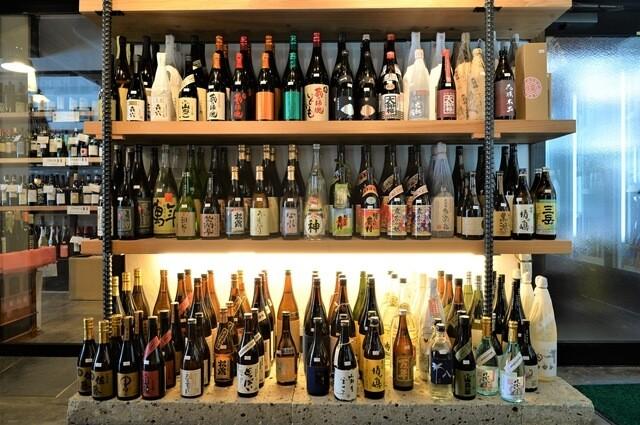日本酒が勢ぞろい