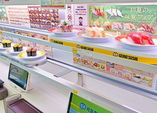 元気寿司東武店の寿司