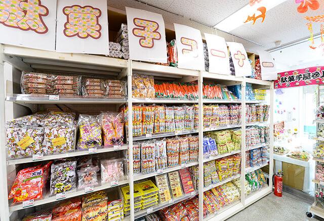 シモジマ宇都宮店の駄菓子コーナー