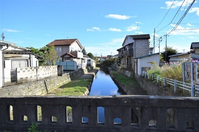田川からの用水路