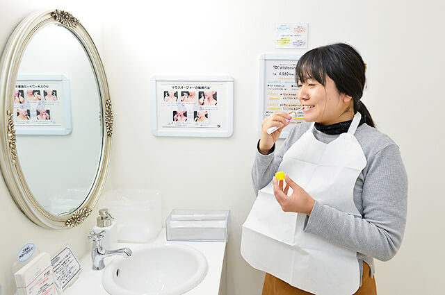 歯磨きの様子