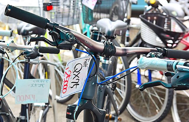 自転車のハンドル部分