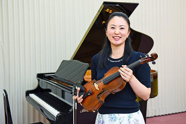 カワイ音楽教室ミュージックスクールゆいの杜のヴァイオリン講師大嶋浩美さん