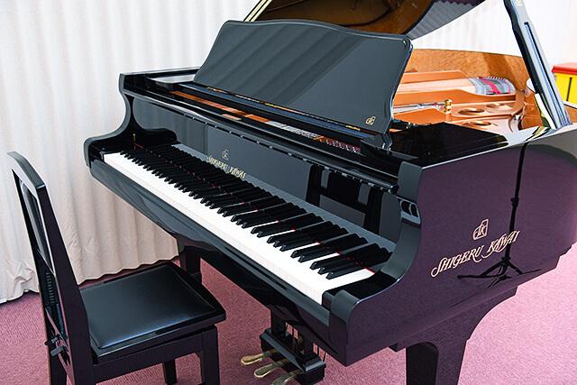 カワイ音楽教室ミュージックスクールゆいの杜にあるShigeru Kawaiグランドピアノ