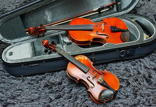 くろねこ音楽教室にあるバイオリン