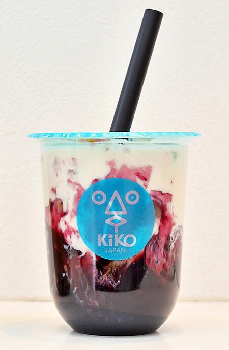 タピオカKiKOの黒糖ブルーベリーミルク