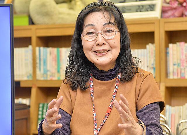 公文中央教室の小田林先生が想いをお話ししている様子