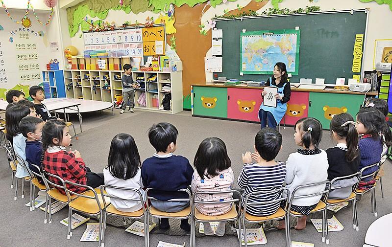 KUMON中央教室 楽しいリズムに乗せたインプット学習の様子