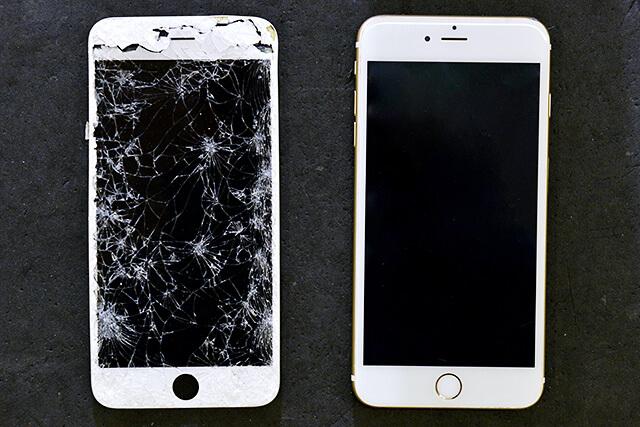 iPhone即日修理・買取リンゴ屋 栃木宇都宮店 壊れたiPhoneと直したiPhone