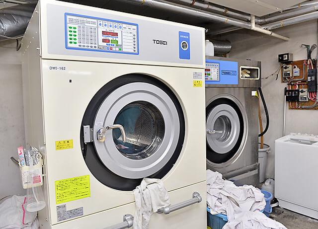 ヤマニクリーニングで使用している洗濯機
