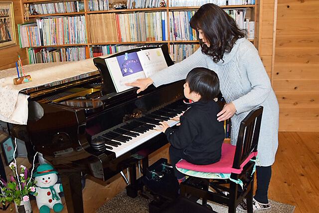 ウジイエピアノ教室でのレッスンの様子