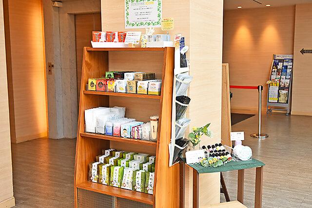 ホテルサンシャイン宇都宮 「サンシャイン キオスク」と名付けられたアメニティコーナー