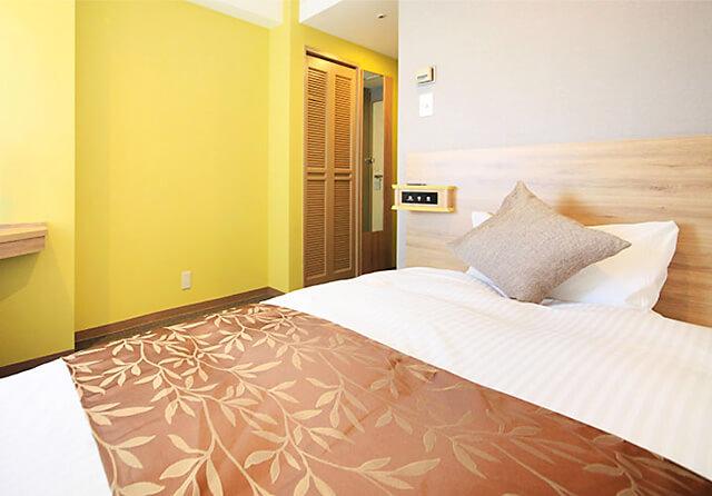 ホテルサンシャイン宇都宮 シモンズ社製のベッド