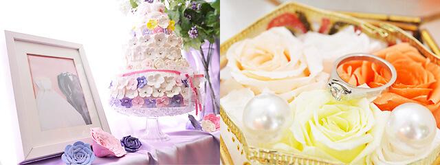 結婚相談所 Kizuna宇都宮店 結婚指輪などブライダルの装飾がされた店内