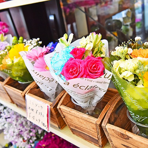 花うさぎ カラフルなミニブーケ
